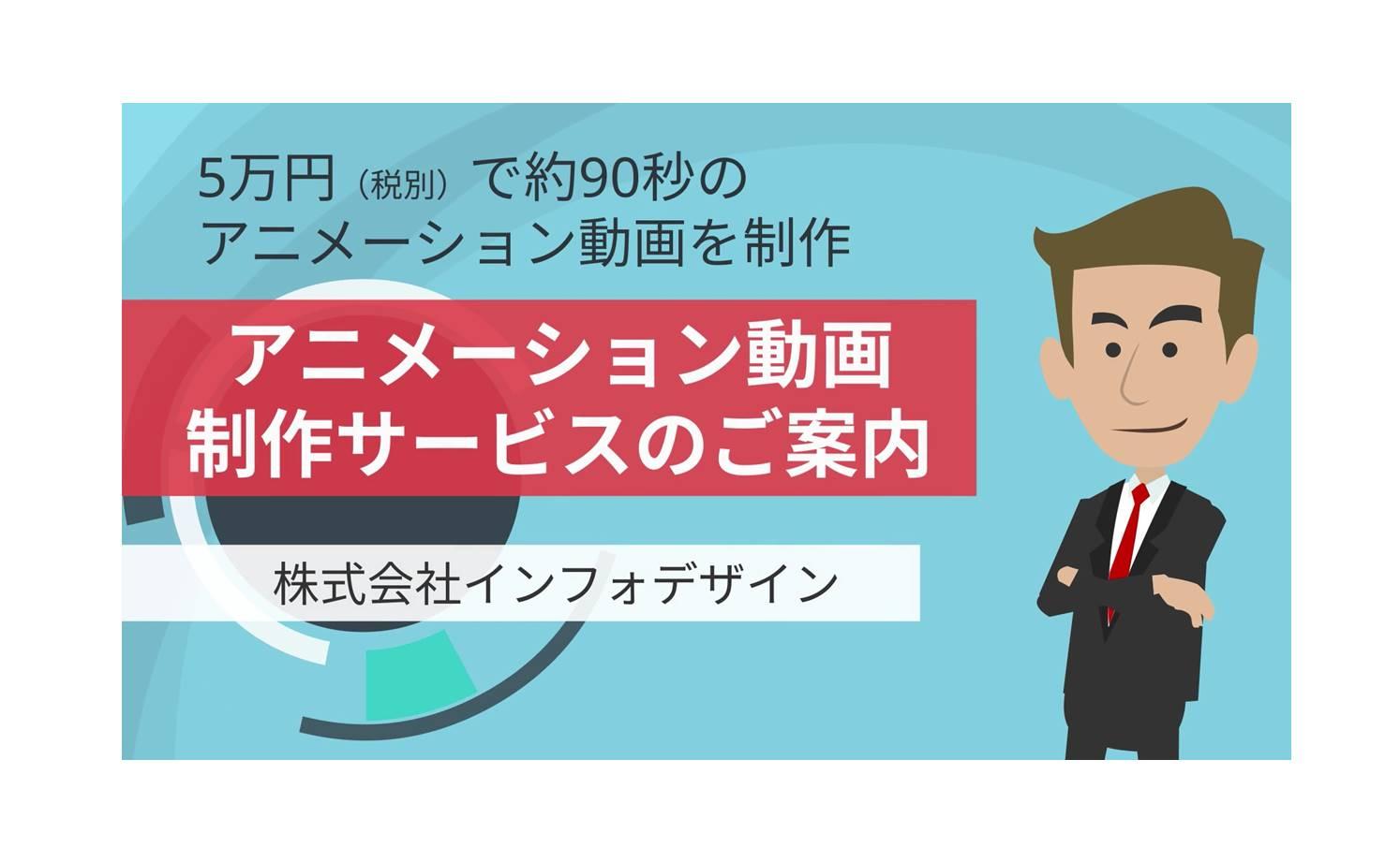 アニメーション動画制作サービスを開始(5万円で約90秒の動画を制作)